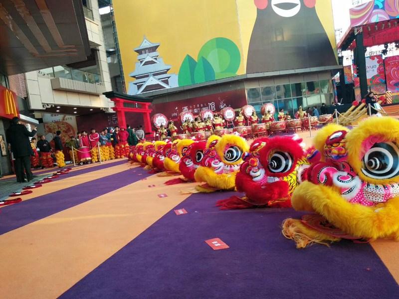 北京商场开业舞狮