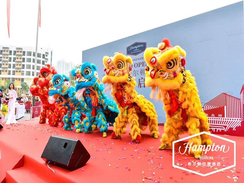 上海酒店开业舞狮