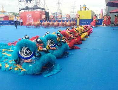 苏州舞狮表演的句子